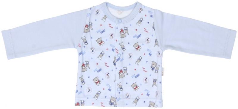 Bavlněná košilka zapínání středem Mamatti Kamarádi, Velikost: 62 (2-3m)