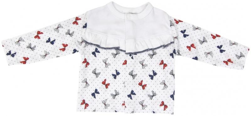 Bavlněná košilka zapínání středem Mamatti Kočička MAŠLIČKA, Velikost: 74 (6-9m)