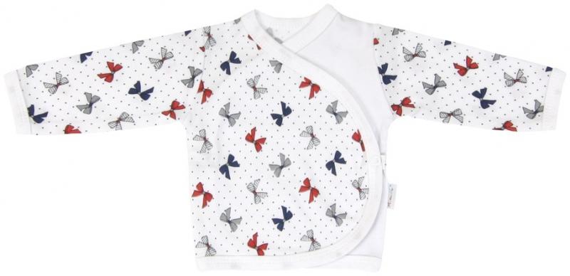 Bavlněná košilka zapínání bokem Mamatti Kočička MAŠLIČKA, Velikost: 62 (2-3m)