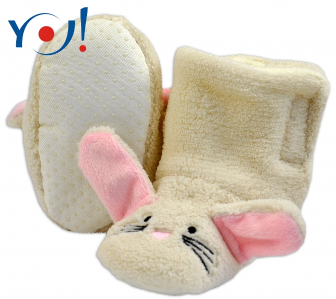 YO ! Zimní botičky/capáčky polar YO! - Králiček - smetanové
