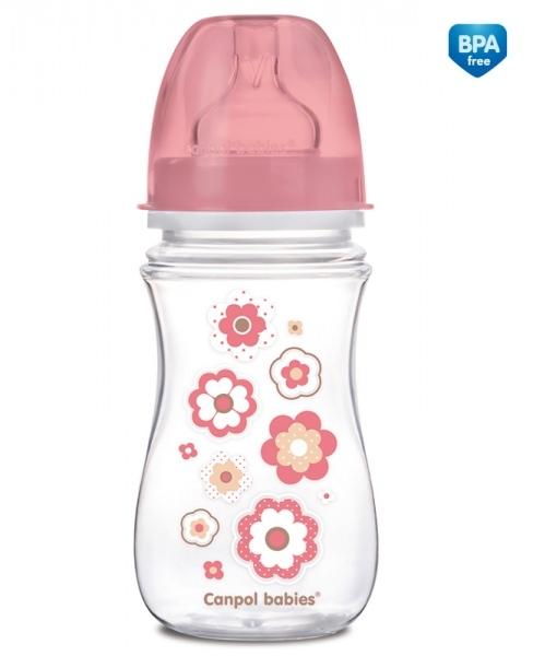Antikoliková lahvička Newborn Canpol Babies - květinka