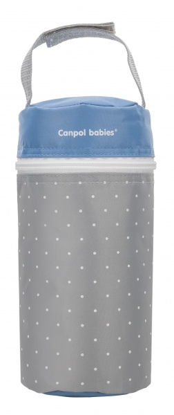 Termoobal Canpol Babies Tečky - šedý/modrý