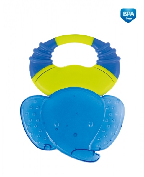 Kousátko gelové Canpol Babies Safari - slon tm. modrý