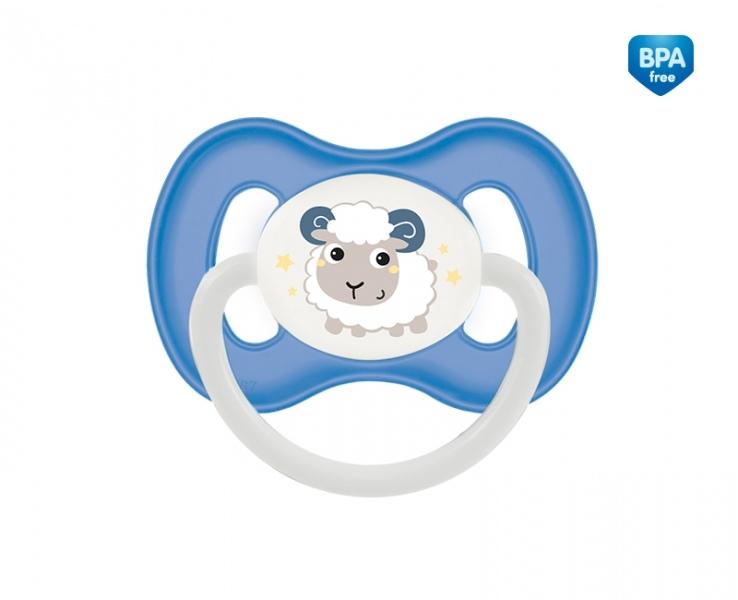 Dudlík anatomický Canpol Babies 0-6m A, Bunny&Company -  ovečka modrá