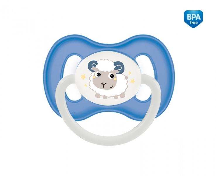 Dudlík symetrický Canpol Babies 18m+ C, Bunny&Company -  ovečka modrá