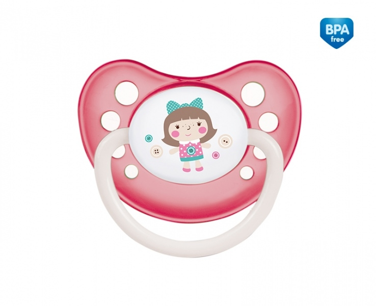 Dudlík anatomický Canpol Babies 18m+ C, Toys -  panenka růžová