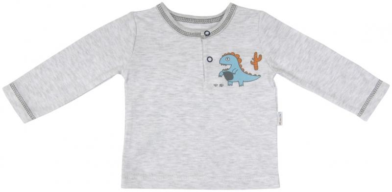 Bavlněné tričko/polo Mamatti - DINO, Velikost: 74 (6-9m)