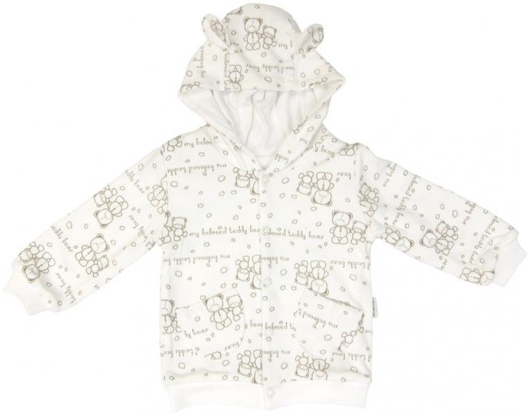 Mikinka Mamatti Baby Bear TEDDY s kapucí s oušky - dvouvrstvá, Velikost: 74 (6-9m)