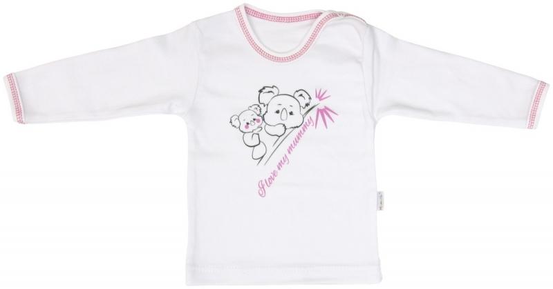 Bavlněné tričko Mamatti KOALA - dlouhý rukáv, Velikost: 80 (9-12m)