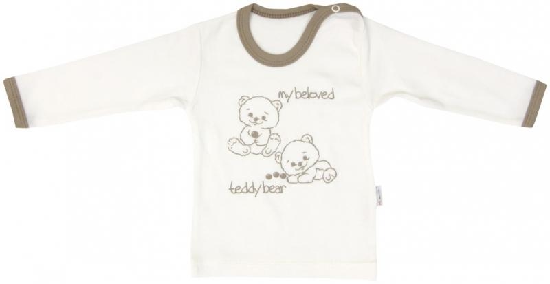 Bavlněné tričko Mamatti Baby Bear TEDDY - dlouhý rukáv