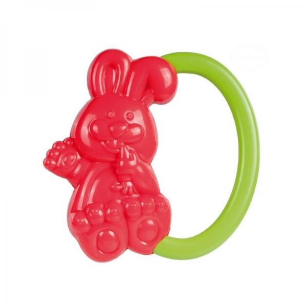 Chrastítko do ručičky Canpol Babies - Zajíček - červené