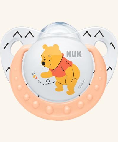 6-18m Dudlík NUK TRENDLINE - Medvídek Pú - bílý