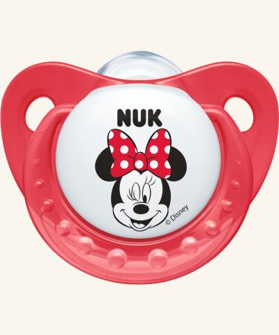 6-18m Dudlík NUK TRENDLINE - Minnie - červený