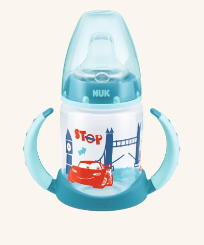 Hrneček NUK First Choice Disney Cars - tyrkysový - 150 ml