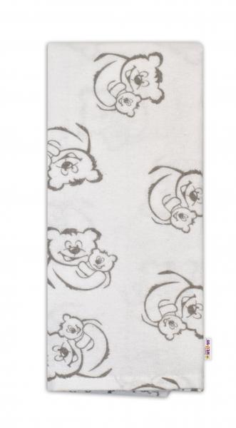 Flanelová plenka - Medvídci v bílé
