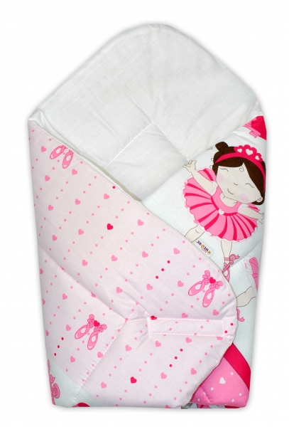 Novorozenecká zavinovačka Princess, 75x75 cm - růžová, Velikost: Klasické