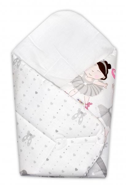 Baby Nellys  Novorozenecká zavinovačka Princess, 75x75 cm - šedá