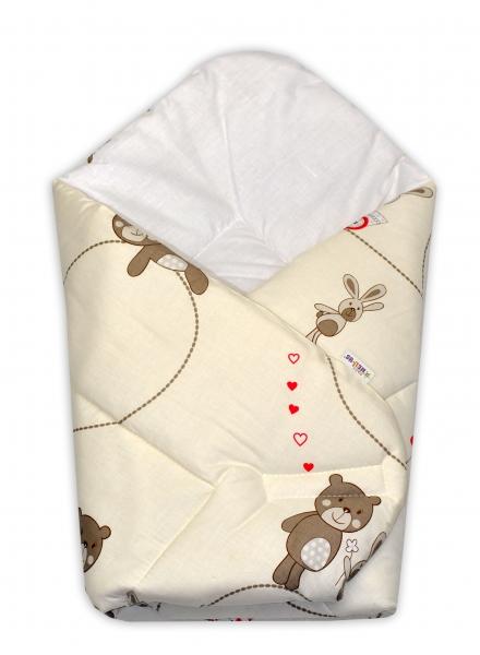 Baby Nellys  Novorozenecká zavinovačka Míša, 75x75 cm - béžový