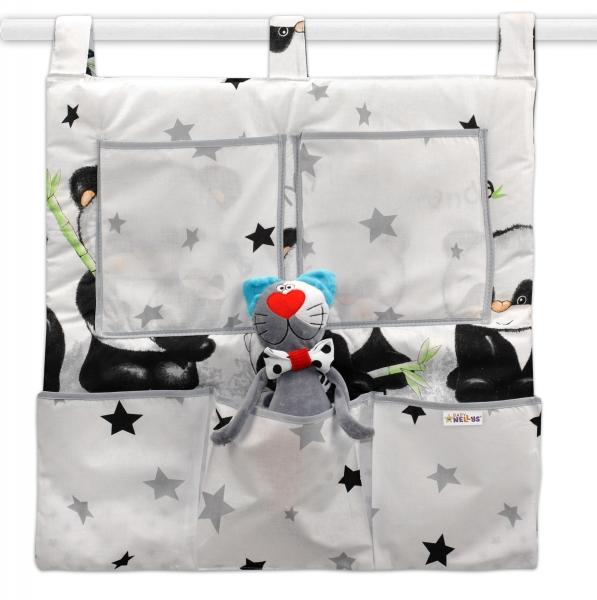 Baby Nellys  Kapsář na postýlku Panda - bílý, D19