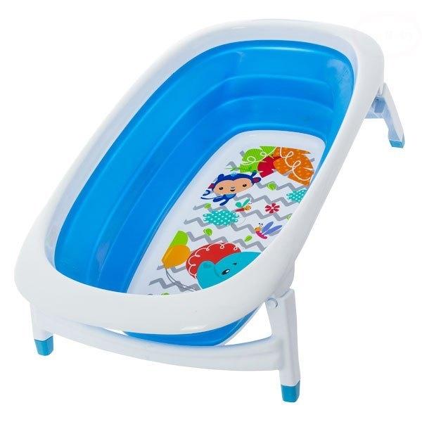 Polohovací cestovní dětská vanička NOVINKA - modrá (Euro Baby - vanička modrá)