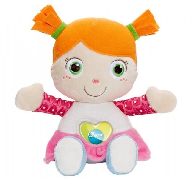 Panenka Emily s chrastítkem Chicco - růžová