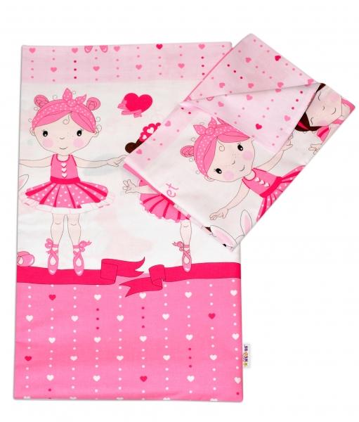 Baby Nellys 2-dílné bavlněné povlečení Princess - růžová