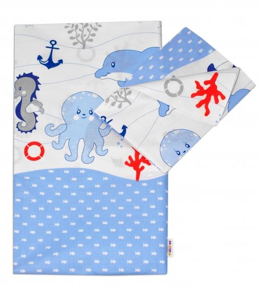 Bavlněné povlečení OCEÁN Baby Nellys - modrý