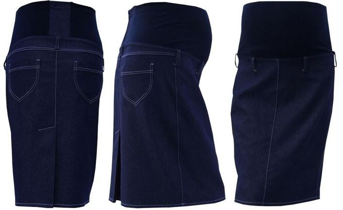 Těhotenská sukně jeans SOMI - jeans