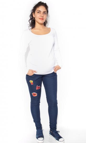 Be MaaMaa Těhotenské kalhoty/jeans s nášivkami  TOP