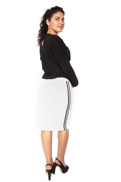 Be MaaMaa Těhotenská sukně ELLY - sportovní - bílá