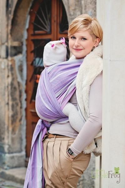 Little FROG Tkaný šátek na nošení dětí - Sugilit - 2. jakost
