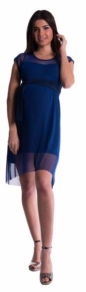 Be MaaMaa Těhotenské šaty se šifonovým přehozem - granát - L
