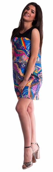 Be MaaMaa Barevné těhotenské šaty - L