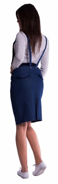 Be MaaMaa Těhotenské šaty/sukně s láclem - cappucino - L