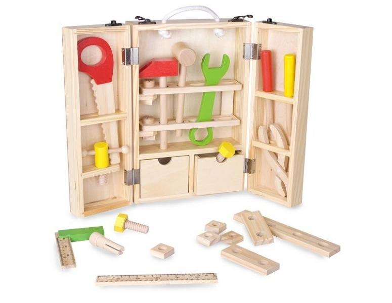 Dřevěné dětské nářadí v kufříku