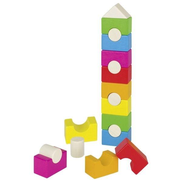 Barevná dřevěná věž - domek