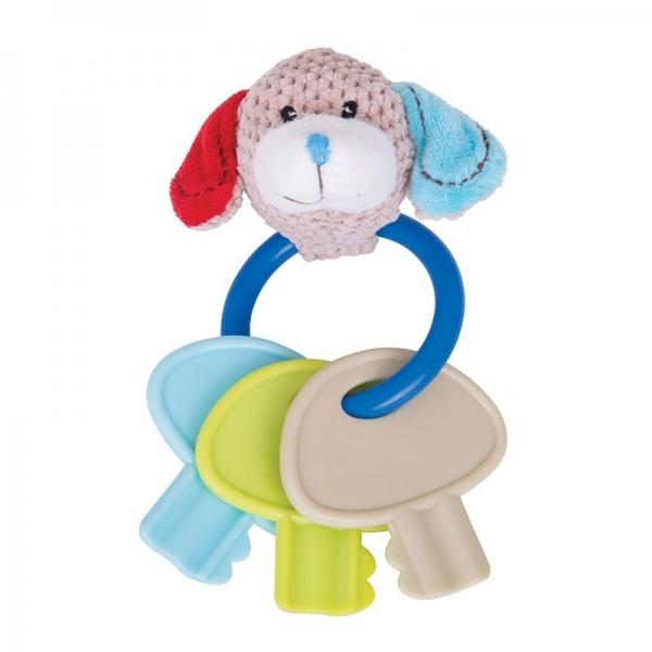 Edukační hračka pejsek Bruno s kousátkem - klíče (1 ks, 0 m+, délka: 17 cm, šířka: 6 cm)