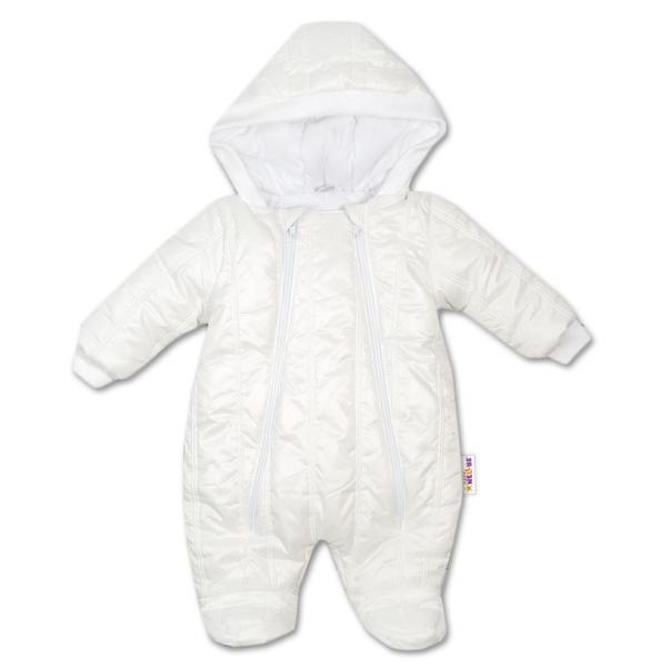 Kombinézka s kapuci LUX Baby Nellys ®prošívaná - smetanová