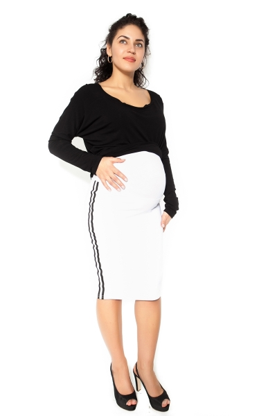 Be MaaMaa Těhotenská sukně ELLY - sportovní - bílá - XL