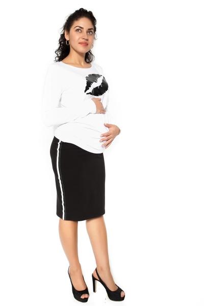 Be MaaMaa Těhotenská sukně ELLY - sportovní - černá