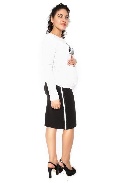 Be MaaMaa Těhotenská sukně ELLY - sportovní - černá - S