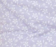 Krásný volánek pod matraci - Květinky fialové
