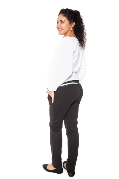 Be MaaMaa Těhotenské tepláky,kalhoty MONY - černé - S