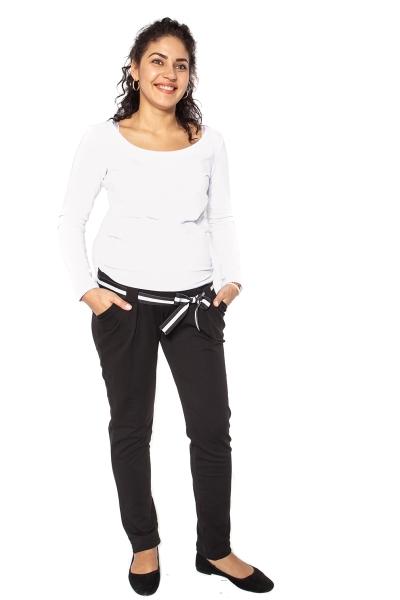 Těhotenské tepláky,kalhoty MONY - černé - M