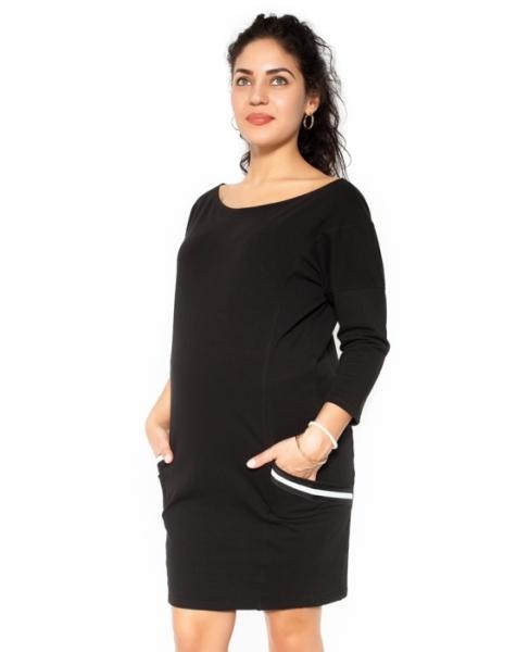 Be MaaMaa Těhotenská šaty Bibi - černé - XL