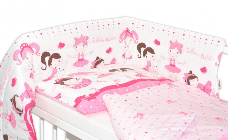 Mantinel s povlečením Princess Baby Nellys - růžová
