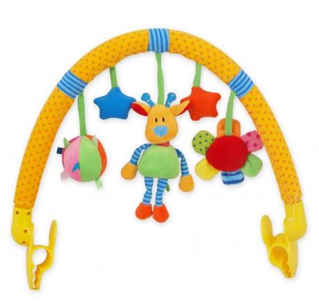 Oblouk s hračkami ke kočárku -  Žirafka