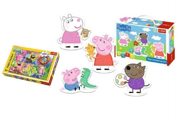 PACK Baby Puzzle Peppa Pig + Puzzle 100 dílků v krabici 29x19x10cm
