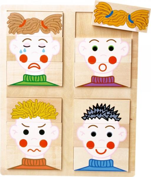 LEGLER Dřevěné puzzle  - EMOCE