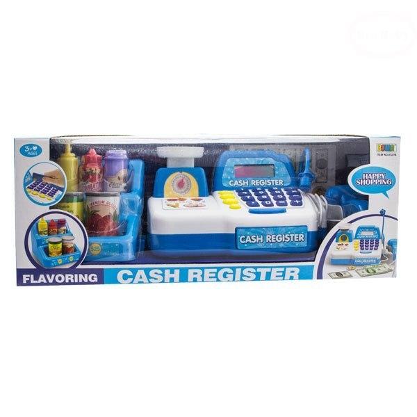 Dětská pokladna s doplňky - modrá